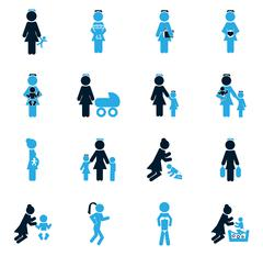 Family icons set Stock Illustration