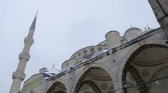 Detail of the great arches of a mosque Stock Footage