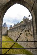 Carcassonne (France), the walls - stock photo