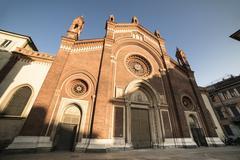 Milan: Facade of  Carmine church - stock photo
