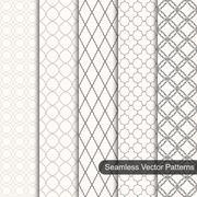 Set of vector ornament seamless patterns - stock illustration