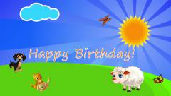 Introduction Congratulations happy birthday Children's animation En - stock footage