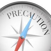 Compass concept Precaution Stock Illustration
