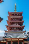 The pagoda at Senso-Ji temple in Tokyo, Japan Stock Photos