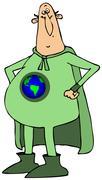 Stock Illustration of Mr. earth hero