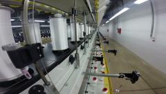 Manufacturing Process in Textile Industry - stock footage