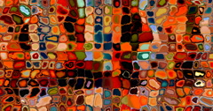 4K multicolored mosaic transition background texture changing colors Stock Footage