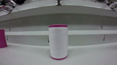 Spool of Thread in a Textile Factory - stock footage