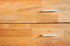 Two wooden drawers Stock Photos