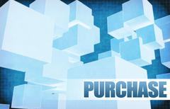 Purchase on Futuristic Abstract - stock illustration