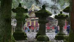 Toshogu Shrine Temple Pagoda Religious Building Monument Nikko Japan Asia Stock Footage