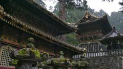 Temple Toshogu Shrine Pagoda Religious Japanese Building Monument Nikko Japan - stock footage