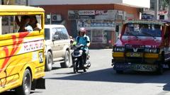 Street scene in Cebu city Stock Footage