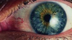 Human eye. Close up. - stock footage
