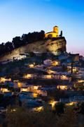 Montefrio at dusk, Province of Granada, Spain - stock photo