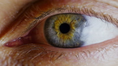 Close up human eye iris Stock Footage