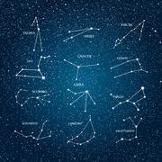 Vector astrological element. Zodiac signs. Horoscope. Eps 10. - stock illustration