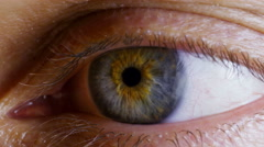 Human eye. Close up. Stock Footage