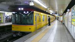 Train Underground Subway Station Japanese Commuters People In Tokyo Japan Stock Footage