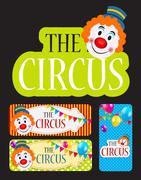 The Circus Banner Set Vector Illustration Stock Illustration