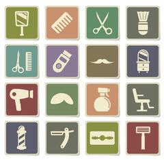 Barbershop simply icons Stock Illustration