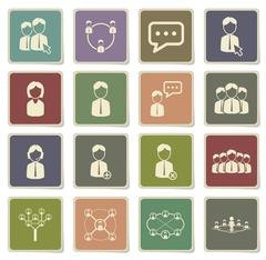 Community simply icons - stock illustration