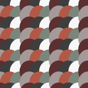 geometry vector pattern. circle seamless ornament - stock illustration