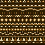 Stock Illustration of geometry vector pattern. triangle seamless ornament