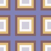 geometry square vector seamless pattern - stock illustration