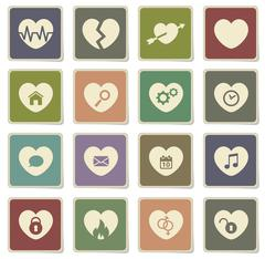 Heart simply icons Stock Illustration