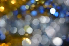 Mix color defocused bokeh lights, a lot of space for text Stock Photos