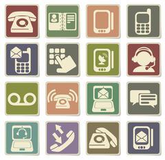 Telephone Icons icons Stock Illustration