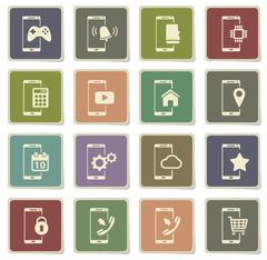 Smartphone simply icons Stock Illustration