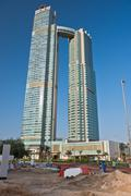 Tall buildings under construction in Abu Dhabi, UAE Kuvituskuvat