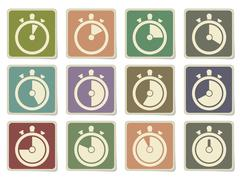 Timer Icon Set Stock Illustration