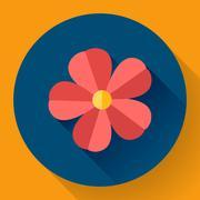 Stock Illustration of Frangipani flower icon. Nature symbol - Vector