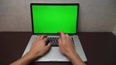 Male hands typing on a laptop is very fast Stock Footage