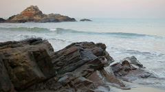 Early morning seascape - stock footage