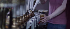 Pouring two pints of beer Stock Footage
