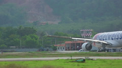 Edelweiss Airbus 330 taxiing Stock Footage