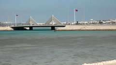 View of Shaikh Isa Bin Salman Causeway in Manama, Bahrain Stock Footage