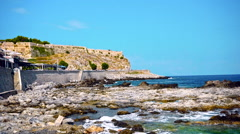 Beautiful Beach Coastline in Crete Stock Footage