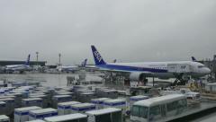 Airplane Plane Japanese Terminal Narita International Airport Tokyo Japan Asi Stock Footage