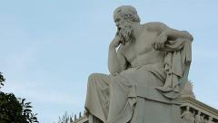 Statue Of The Philosopher Socrates Stock Footage