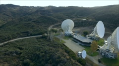Satellite Earth Station in a remote  valley location Stock Footage