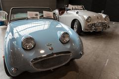 Exhibition of antique and sports cars Stock Photos