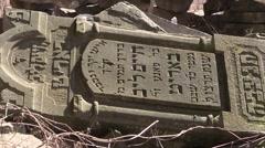 Jewish tombstones lie Stock Footage