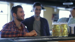 Friends met after a hard day - stock footage