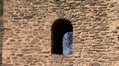 Fasilides Castle ruins in Gondar highland of Ethiopia Stock Footage