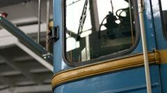 Retro railway carriage. Stock Footage